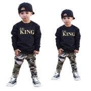 2pcs Toddler Infant Kid Baby Boys Clothing T-shirt Tops+Pants Outfits Set