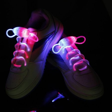 IClover LED Shoe Laces Light Up Glow Flashing Shoelaces with 3 Modes for Halloween Party Dancing Running Cycling Hiking - Led Light Up Shoelaces