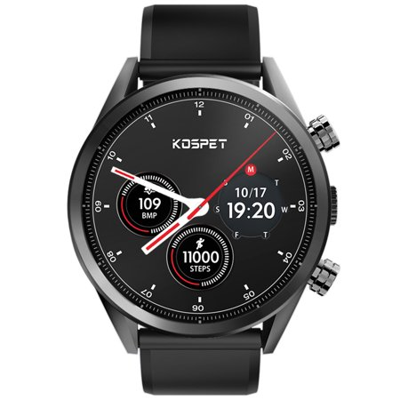 Kospet Hope 4G Smart Watch,[2019 Newest] 8.0 MP Camera,3/32 GB Ram/ROM, IP67 Waterproof,Bluetooth Wristband Scratch Resistant ZRO2 Ceramic Watch,GPS,Heart Rate Monitor,OTA (Best Sport Smartwatch 2019)