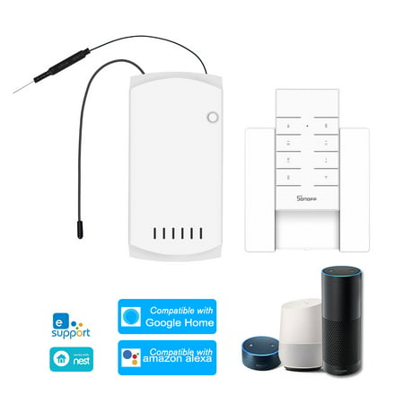 IFan03+RM433+Base Ceiling Fan Controller Smart Switch Controller with RF Remote & Base WiFi Smart Ceiling Fan Light Controller APP Remote Control ON /OFF Control Fan Compatible with Home/Nest (Best Pc Remote Control App)