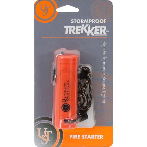 Ultimate Survival Technologies Trekker Stormproof Lighter, Blaze Orange