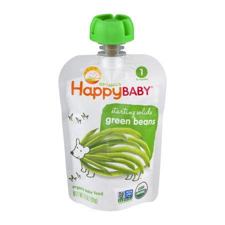 Happy Baby  Starting Solids Green Beans Organic Baby Food 3 5 Oz  Pouch