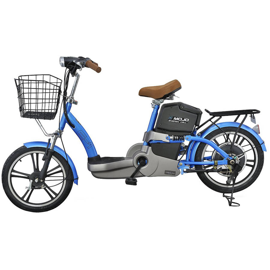 E1 Electric Bike with Lithium Battery, Forest Blue