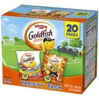 Pepperidge Farm Goldfish Crackers, Colors + Flavor Blasted Xtra Variety Pack, 0.9 oz, 20 Count