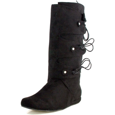 MENS SIZING Fabric Renaissance Costume Boots Knee High Boots](Knee Boots Men)