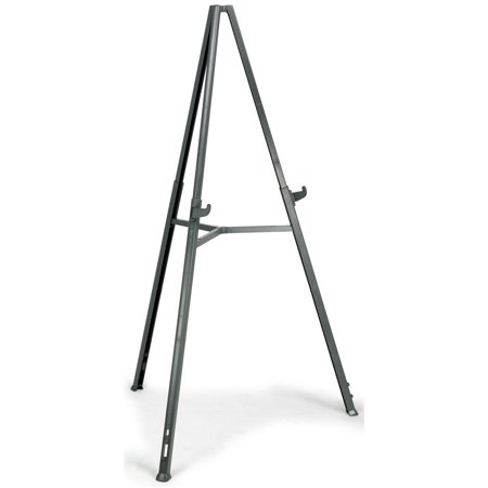 Portable Presentation Easel, No Assembly Required, Height-Adjustable Tripod Stand with Telescoping Legs for Countertop or Floor Displays - Black ABS Plastic (TPHEAS)