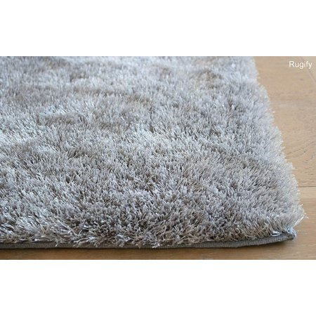Sale! 8'x10' Feet Silver Light Gray Light Grey Solid Shag Shaggy Area Rug Carpet Woven Braided Hand Knotted Feizy Accent Fluffy Fuzzy Modern Contemporary Shimmer Sale Decorative - Aroma Silver Design ()