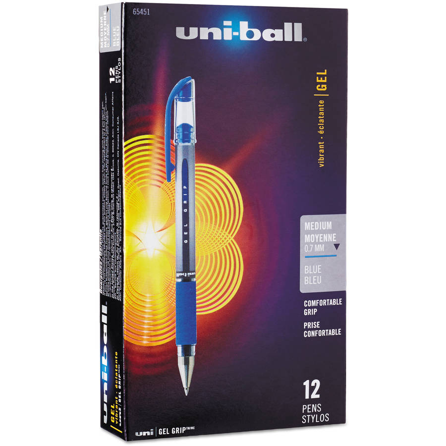 Uni-ball Signo Gel Grip Stick Roller Ball Pen, 12 per pack