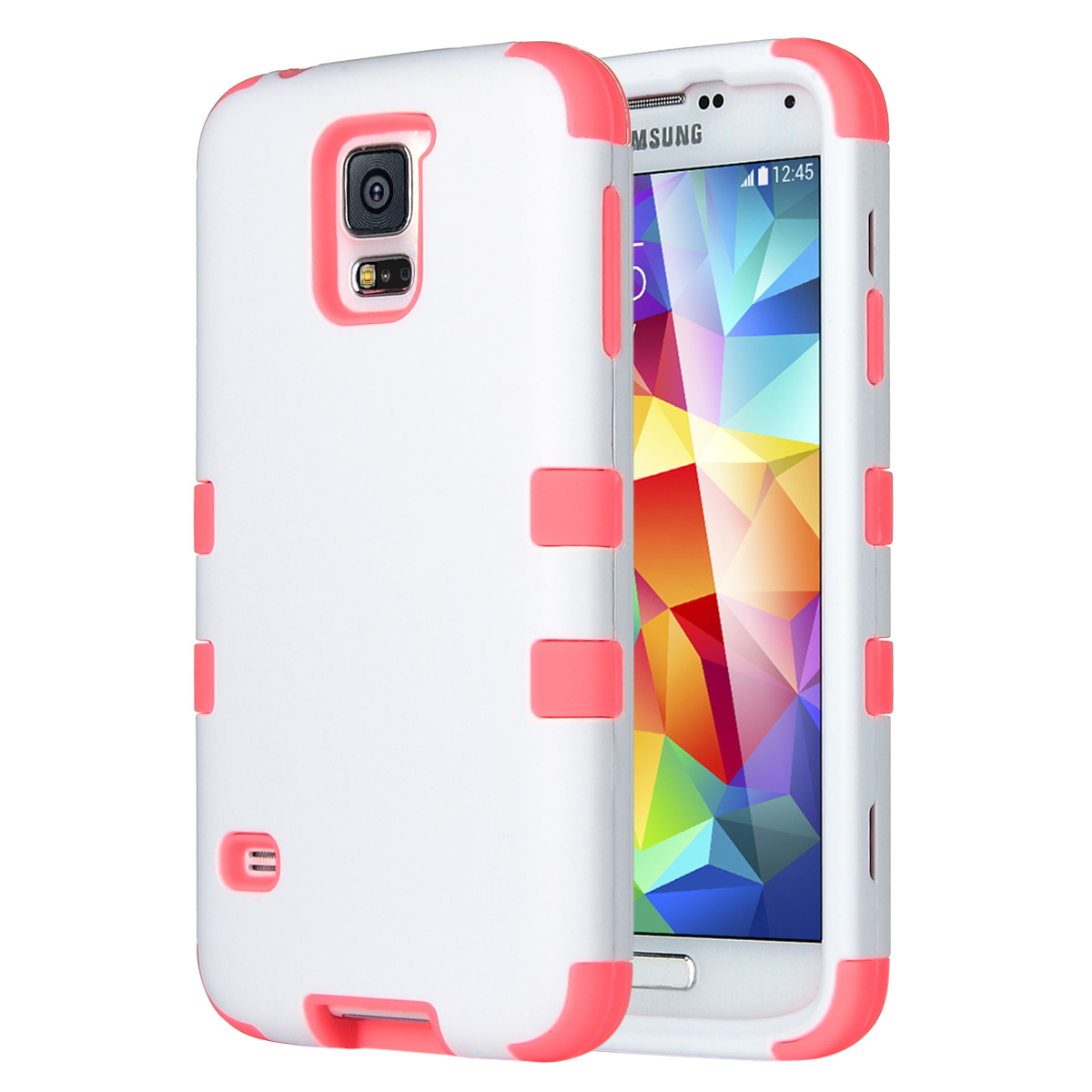 Galaxy S5 Case, ULAK 3-piece Shock Absorbing Dual Layer Protective Case with Soft silicone Skin Hard PC Grip Cover for Samsung Galaxy S5  (2014)