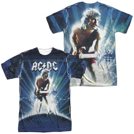 Acdc - Lightning (Front/Back Print) - Short Sleeve Shirt - XXX-Large