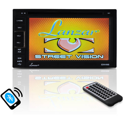 Lanzar SDNV66B GPS and Bluetooth Stereo Receiver System by Lanzar