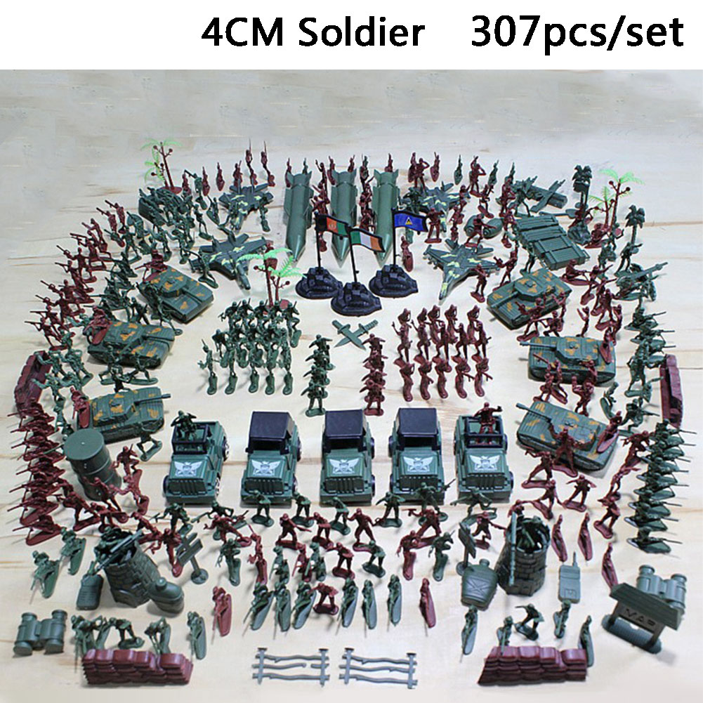 100 130 200 300pcs Sand Table Army Toy War Military Figures Set Soldiers Playset
