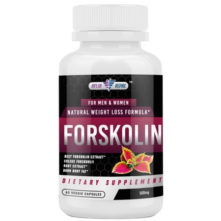 Forskolin Extract - 500mg - Promotes Weight Loss for Men and Women - Diet Pills - Burn Body Fat - Appetite Suppressant, Carb Blocker and Metabolism Booster - 60 Veggie Capsules ()