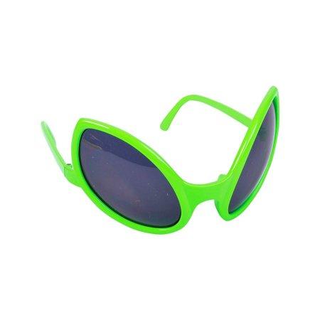 Close Encounter Alien Green Bug Lizard Eye Green Costume Sunglasses Glasses (Quick Alien Costume)