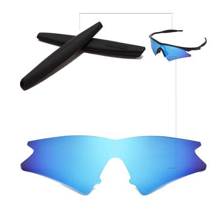 Walleva Ice Blue Replacement Lenses And Black Earsocks For Oakley M ...