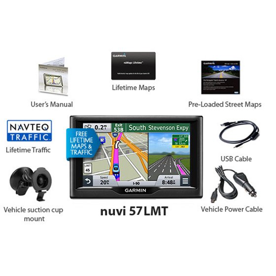 Garmin nuvi 57LMT Advanced GPS Car Navigator w/ 5