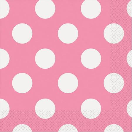 Polka Dot Paper Lunch Napkins, Hot Pink, 16ct - Black And Gold Napkins
