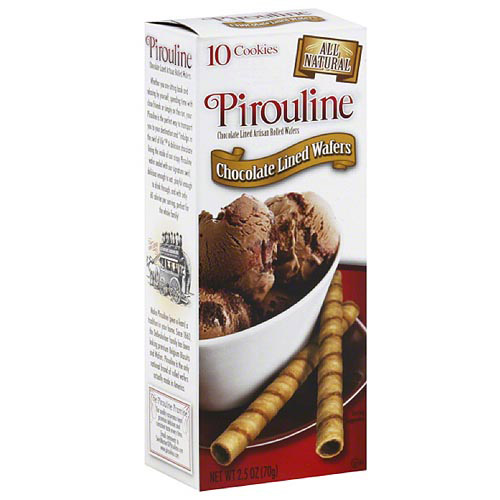 Pirouline Chocolate Lined Wafers, 2.5 oz, (Pack of 12)