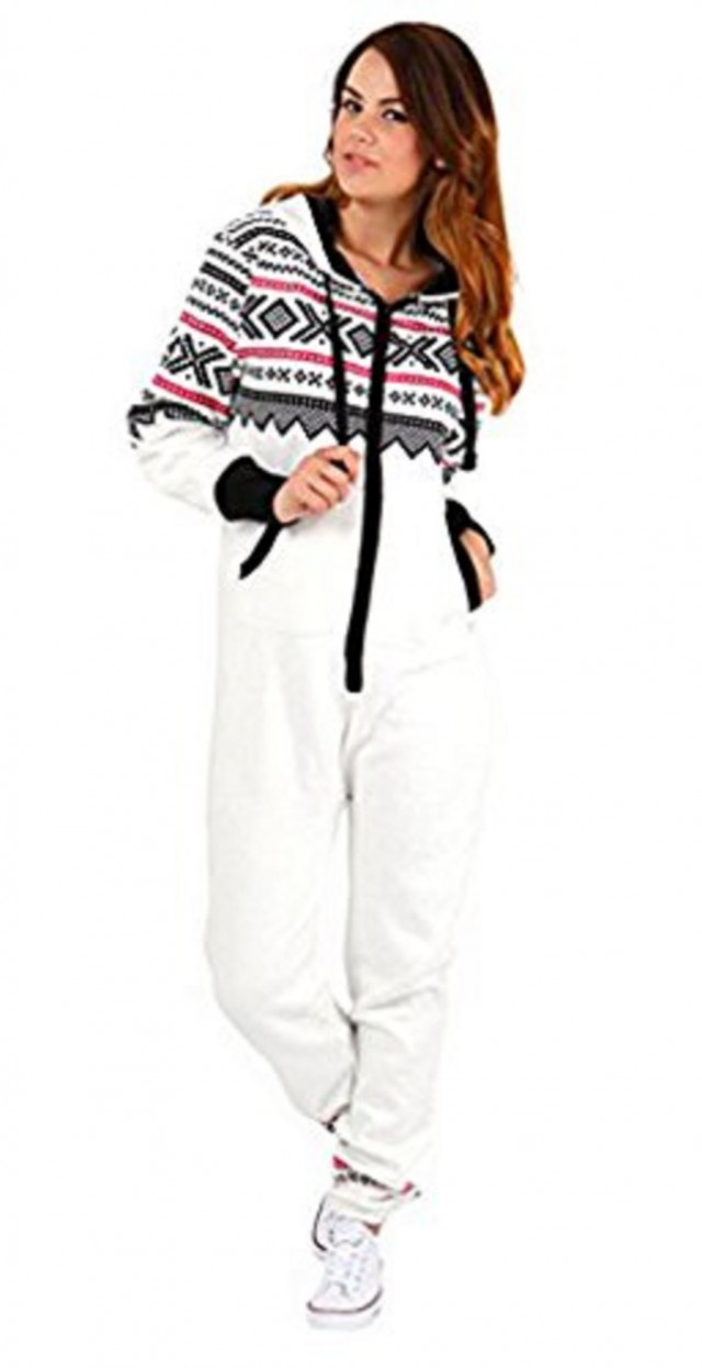 Skylinewears - SkylineWears Womens Onesie Fashion Playsuit Ladies Jumpsuit  Aztec White S - Walmart.com 8cfa36b28ae2