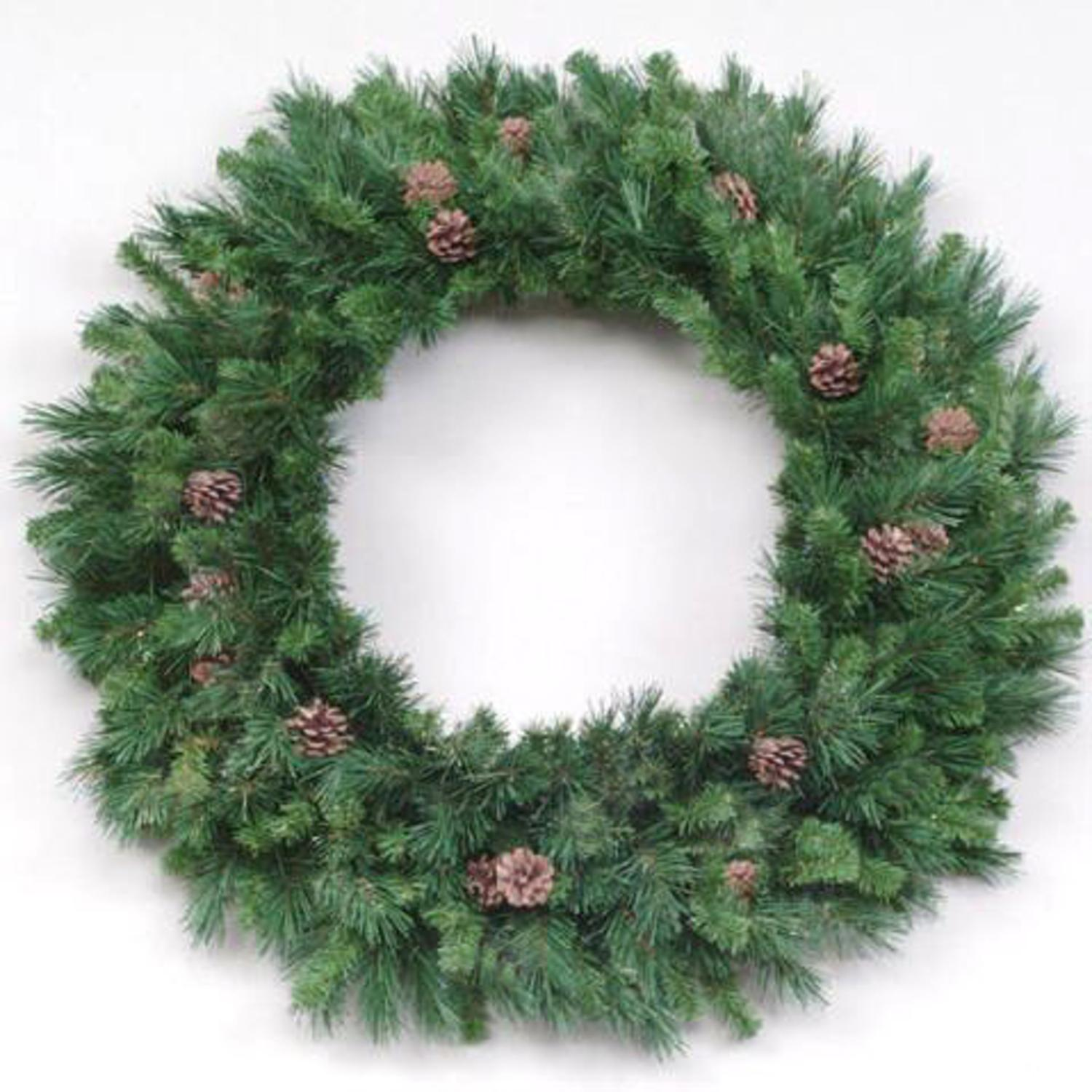 8' Cheyenne Pine with Cones Artificial Commercial Christmas Wreath - Unlit