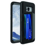 Blackweb Phone Case With Easy-Access Fan-Out Hidden Credit Card Holder & Stand For Samsung Galaxy S8 - Black