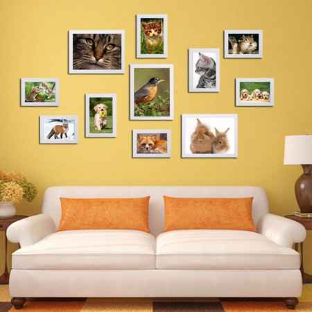 11pcs multi diy wall hanging photo frame set picture display modern photograph home wall art. Black Bedroom Furniture Sets. Home Design Ideas