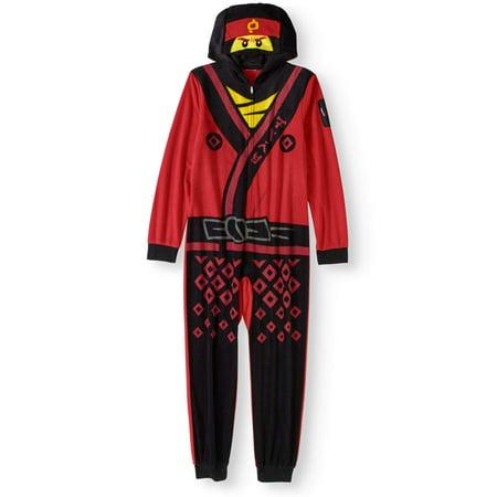 ef4d87d598f3d LEGO NINJAGO - Boys' Ninjago Hooded Pajama Onesie Union Suit (Big Boys &  Little Boys) - Walmart.com