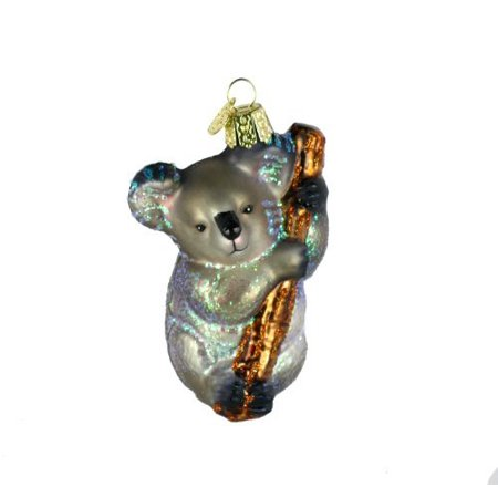 Koala Bear Glass Blown Ornament, Hand crafted in age-old tradition using techniques that originated in the 1800's By Old World - Chinese Christmas Traditions