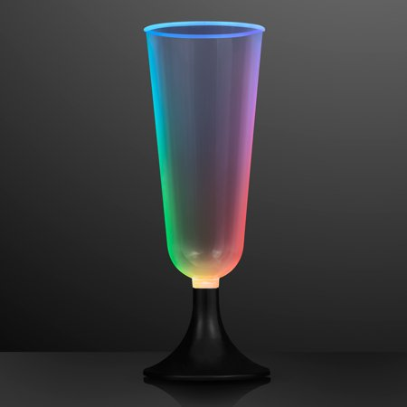 FlashingBlinkyLights Slow Color Change LED Short Champagne Glass](Light Up Champagne Glasses)