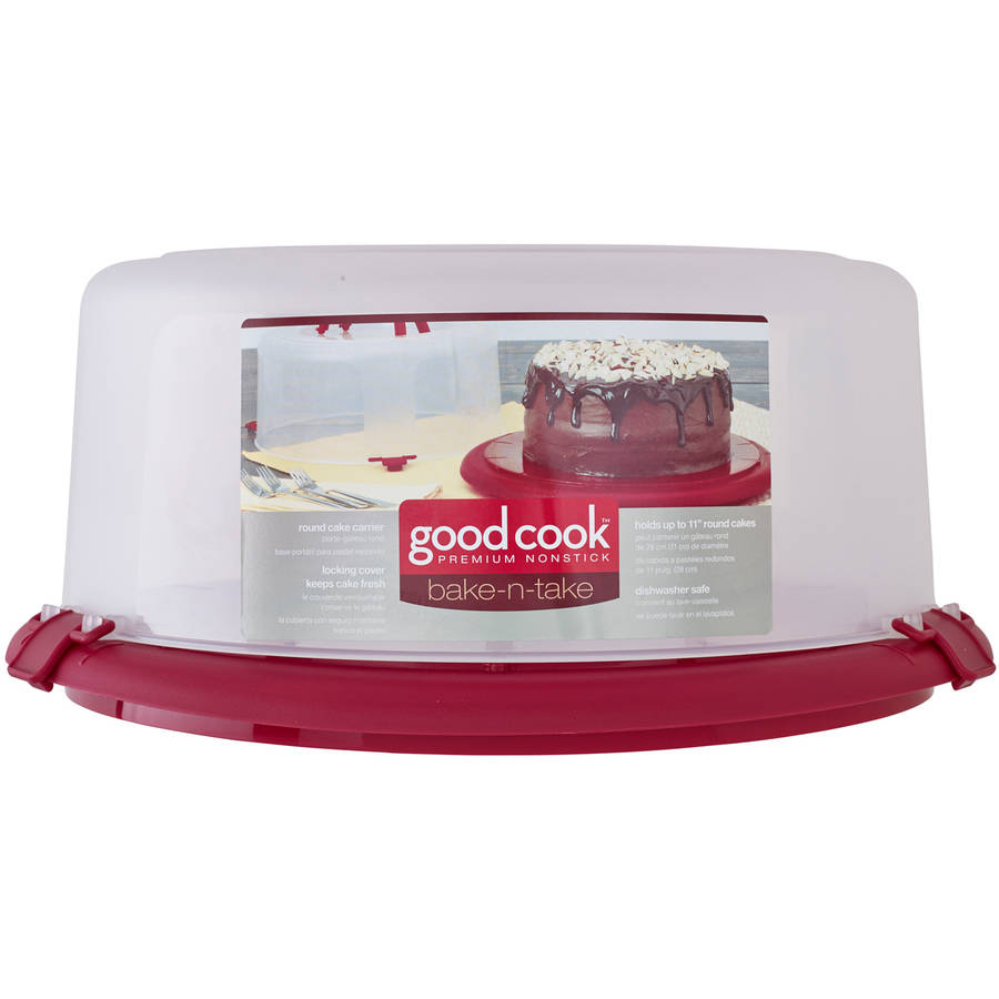 Good Cook Bake-n-Take Round Cake Carrier with Handle, 12""