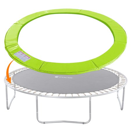 ExacMe Trampoline Replacement Safety Pad Round Spring Cover, No Hole for Pole, 12 FT Light Green