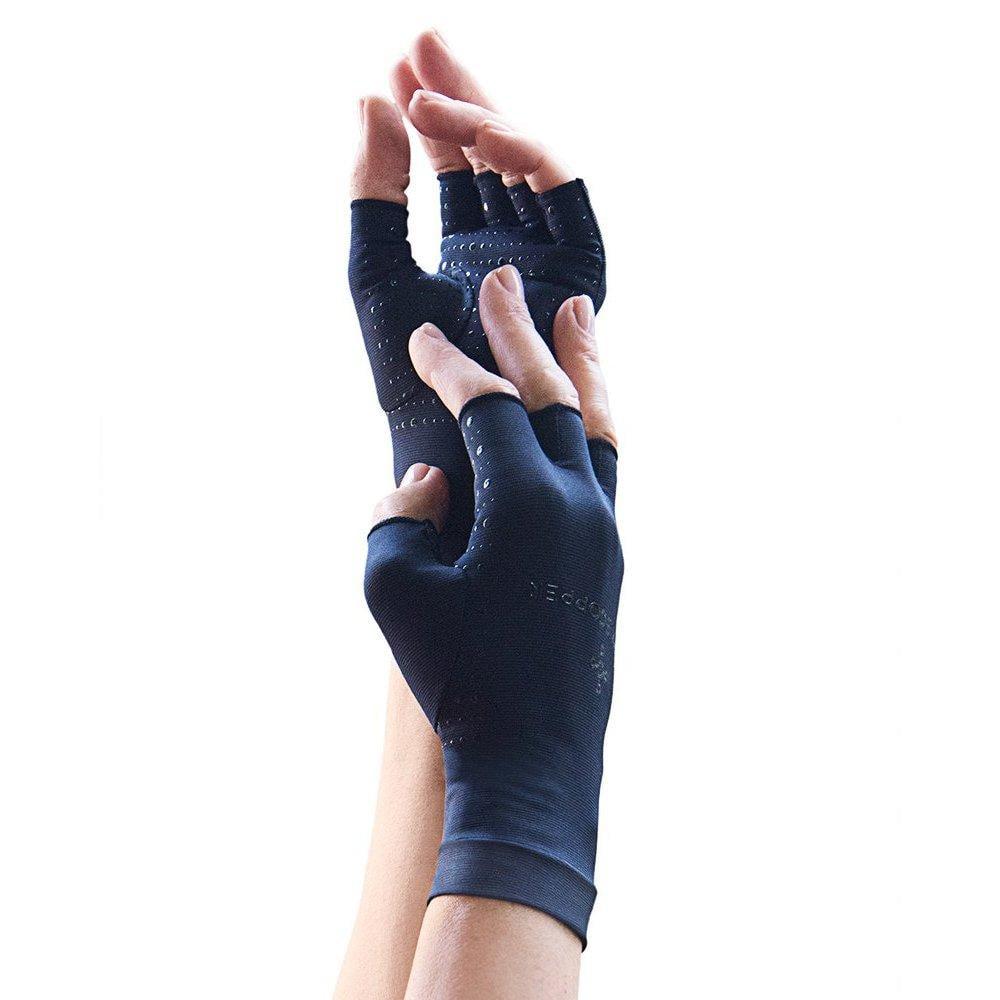 tommie copper women's motion fingerless gloves, black, me...