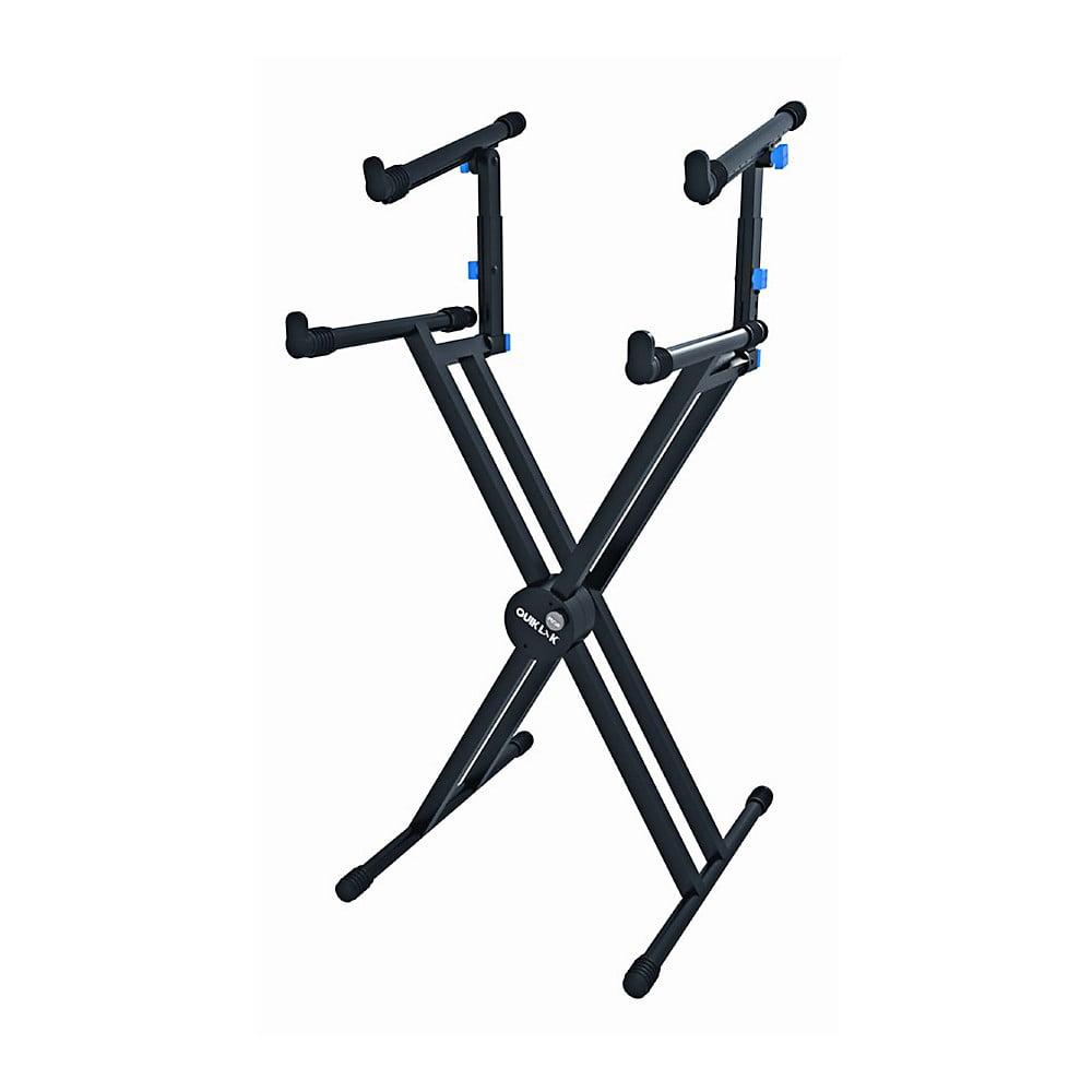 Quik-Lok Double-Tier Double-Braced Keyboard Stand by Quik-Lok