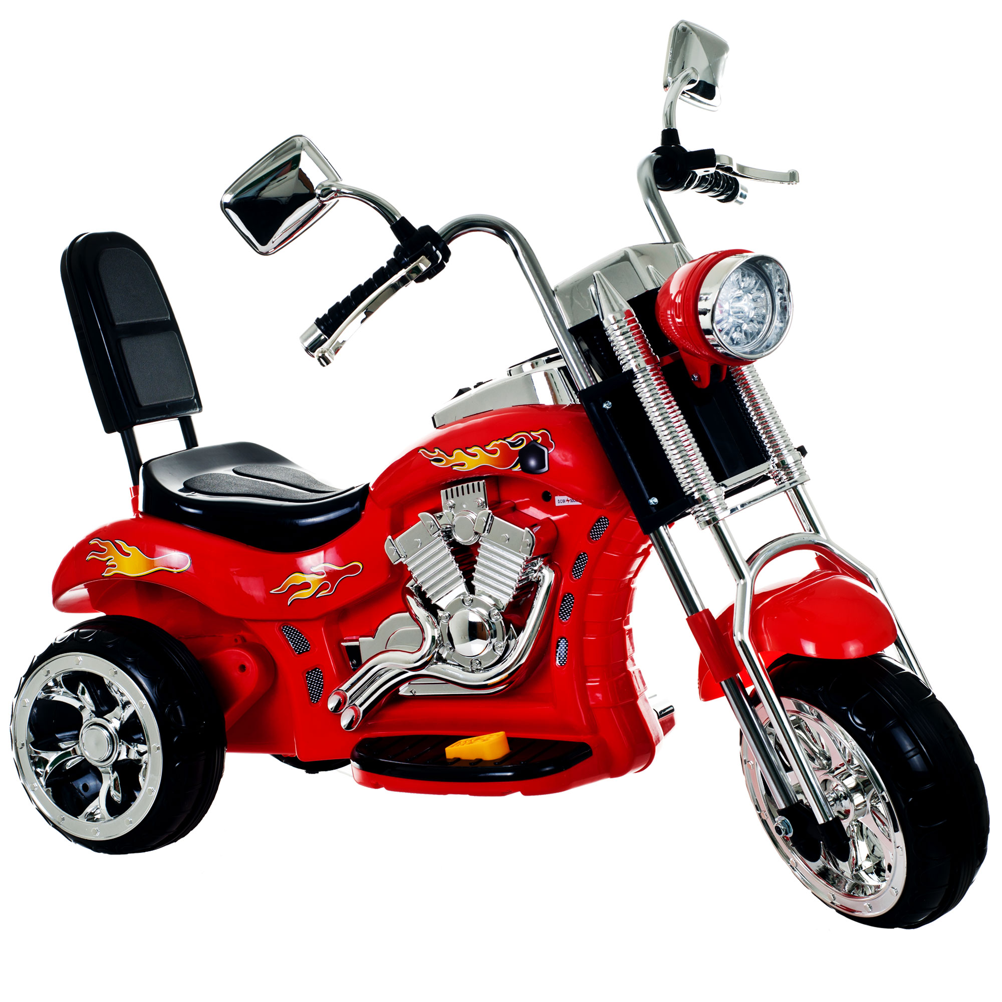 Ride on Toy, 3 Wheel Trike Chopper Motorcycle for Kids by Hey! Play! - Battery Powered Ride on Toys for Boys and Girls, 2 - 4 Year Old - Red