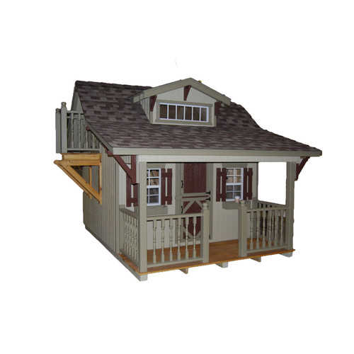 Little Cottage Company Craftsman 11x10 DIY Kit Playhouse