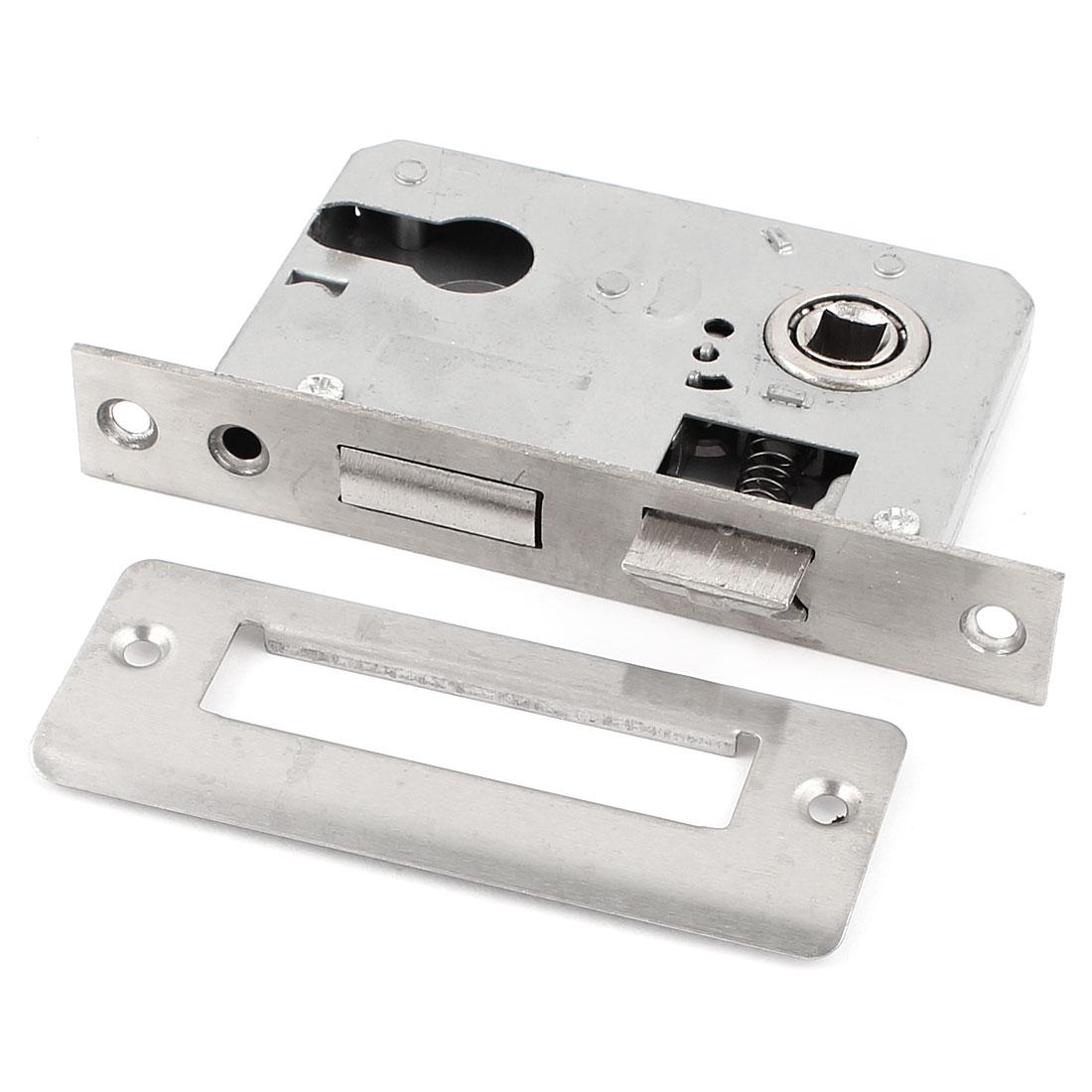 Office Home Security Metal Door Locking Gate Latch Lock Silver Tone
