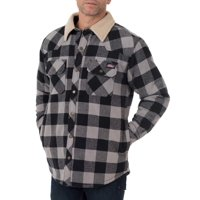 Dickies Mens Buffalo Twill Shirt Jacket w/Sherpa Collar Deals