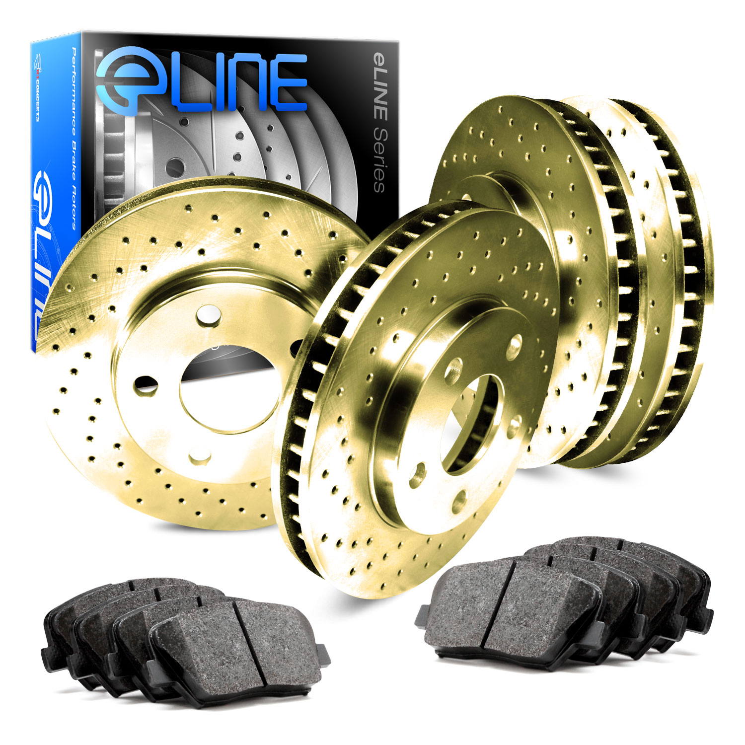 Front And Rear Brake Rotors /& Ceramic Pads For 2007 2008-2012 Acura RDX