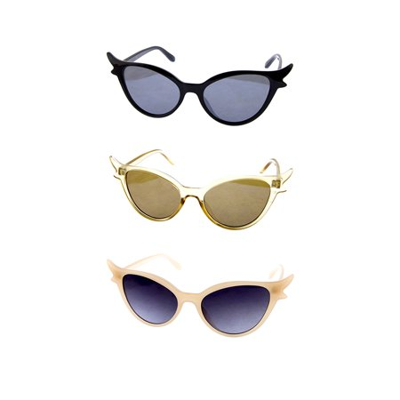 Hollywood Cat Eye Sunglasses - 50s Retro Glamour Style (Hollywood Star Sunglasses)