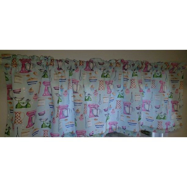 Vintage Kitchen Curtain Panels (Set Of 2) 63 Inch Long