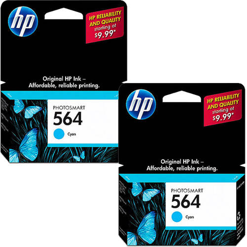 HP 564 Cyan Original Ink Cartridge  with Extra cartridge