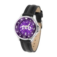 """Texas Christian Horned Frogs NCAA Anochrome """"Competitor"""" Women's Watch (Poly/Leather Band)"""