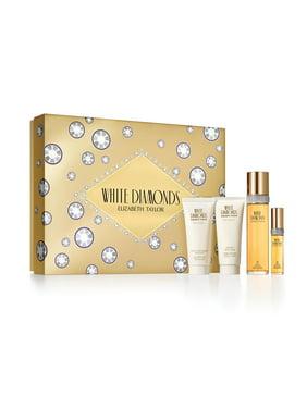 Elizabeth Taylor White Diamonds Fragrance Gift Set for Women, 4 piece