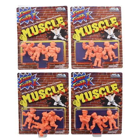 Street Fighter MUSCLE Mini Figures, Set of 12, Arcade Block Exclusive - Mini Muscle Man