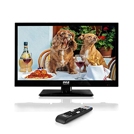 Pyle 18.5-Inch 1080p LED TV | Ultra HD TV | LED Hi Res Widescreen Monitor with HDMI Cable RCA Input | LED TV Monitor | Audio Rca Hdmi Televisions
