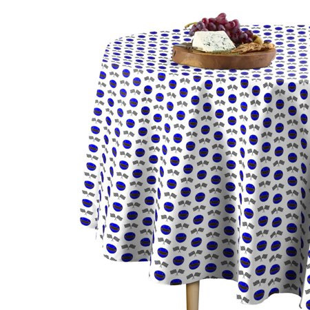Fabric Textile Products Blue Helmets & Racing Flags Tablecloth 60