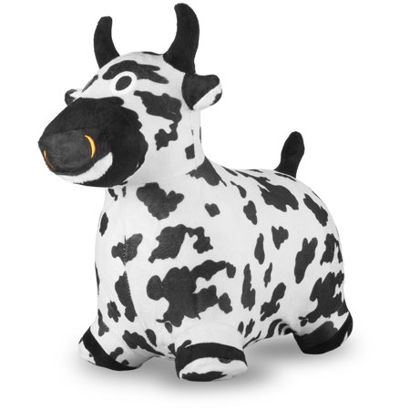 Chromo Bouncy Inflatable Real Feel Hopping Cow - Inflatable Cow
