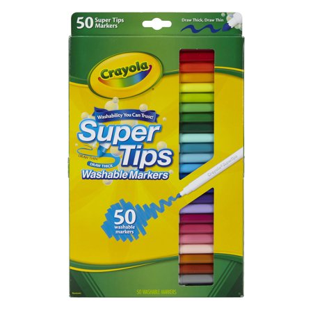Best Crayola® Super Tips Washable Markers, Pack of 50 deal