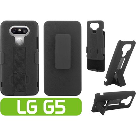 Cellet Shell + Holster + Kickstand Combo Case for LG G5