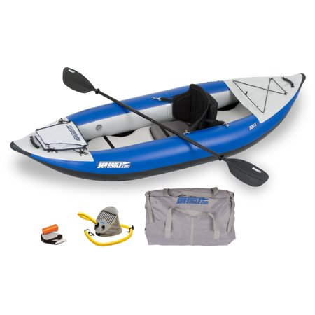 Sea Eagle 300XKPT Explorer Inflatable Pro Kayak with 16 Fast Drain Valves